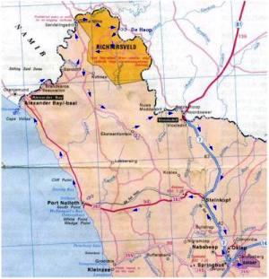 Orange River On Map Rafting Adventures Ora...